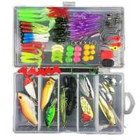 ZANLURE 88pcs Colorful Mixed Fishing Lure Sets Hard Baits/Soft Lures Fake Artificial Bait With Box