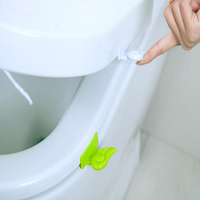 Honana Bathroom Cute Wing Shape 2 Color Options Toilet Seat Cover Lifting Device Clamp Lifter