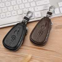 Men And Women Genuine Leather Retro Key Bag