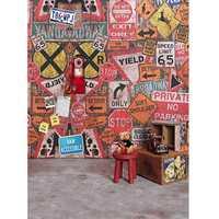 5x7FT Vinyl Graffiti Wall Phone Bear Photography Backdrop Background Studio Prop