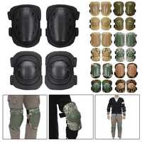 4Pcs Motorcycle Tactical Knee Elbow Pad Protective Safety Gear CS Army Military Training