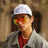 Lotus Printing Graffiti Baseball Caps Outdoor Visor Hat