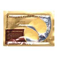 1 Pair 24K Gold Crystal Collagen Eye Mask Dark Circle Eye Bags Patches