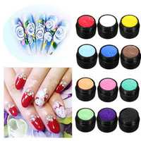 3D UV Manicure Gel Sculpture Design Nail Art Tip Glue Creative Decoration 12 Colors