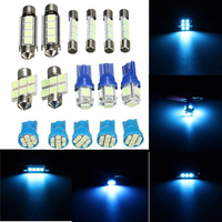 12V Ice Blue Car Interior LED Lamp Replacement Bulb Reading Dome Lights for Jeep Grand Cherokee WJ 1998-2004