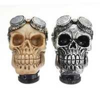 Universal Car Skull Head Transmission Gear Shift Knob Shifter Lever