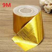 9mx5cm Adhesive Reflective Gold High Temperature Heat Shield Wrap Tape Roll