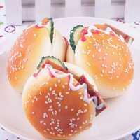 6.5CM Random Squishy Simulation Hamburger Bread Fridge Magnet Decoration