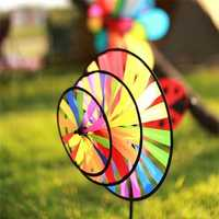 Outdoor Three-story Windmill National Rainbow Windmills Children Windmills Toy