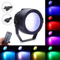 15W Stage Par Light COB LED RGB DMX Remote Disco Bar DJ Ktv Show Party Lamp