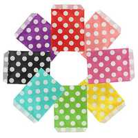 25pcs Biodegrable Polka Dot Candy Gift Bag Wedding Party Paper Food Bag
