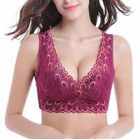 Lace Embroidery Wire Free Full Cup Bras