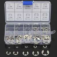 120 Pcs Stainless Steel E-Clip Assortment Kit