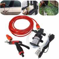 60W High Pressure Self-priming Electric Car Portable Wash Washer Water Pump 12V