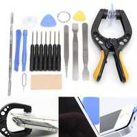 19 in 1 Phone LCD Screen Opening Tool Plier Suction Cup Pry Spudger Repair Kit Set