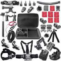 33 in 1 Large Case Monopod Tripod Straps Mounts Adapters Accessories Kit Sets for GoPro Hero 1 2 3 4