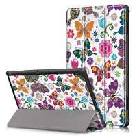 Tri-Fold Printing Tablet Case Cover for Lenovo Tab E10 Tablet - Butterfly