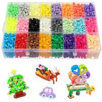 24 Grids 4200Pcs DIY Fuse Beads Water Sticky Magic Aqua Beads Art Craft Toys Kids Art for Kids Adult