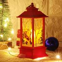 Christmas Decoration Santa Claus Angle Snowman Elk Candlestick Hanging Table Night Light Ornaments