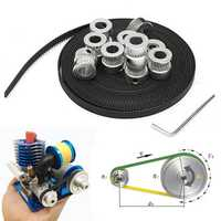 8pcs GT2 20T Bore 8mm Timing Pulley with 5m Belt and Tensioner