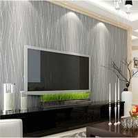 10M Nonwoven Colth Roll Wallpaper Solid Color Irregular Stripe Flannel Home Wall Decor