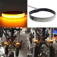 1Pcs SMD LED Strip Bike Motorcycle Car Fork Turn Signal Indicator Lights Blinker Lamp