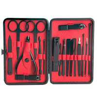 19 Pcs Black Nail Clipper Set