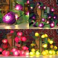 20LED Rose Flower Fairy String Light Wedding Garden Party Xmas Christmas Decor