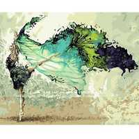 40X50CM Dancer Digital Acrylic Painting DIY Self Handicraft Paint Kit Home Decor Without Frame