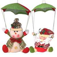 Santa Claus Snowman In Parachute Christmas Xmas Tree Hanging Home Decor Ornament