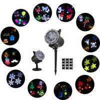 ARILUX® 12 Patterns 7W LED Remote Christmas Moving Laser Projector Landscape Stage Light Outdoor