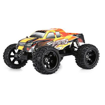 2 Batteries ZD Racing 08427 1/8 120A 4WD Brushless RC Car Monster Truck RTR