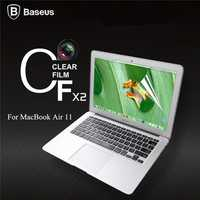 BASEUS 2 X Ultra Thin Transparent Clear Film Screen Protector Guard Cover For Apple Macbook Air 11