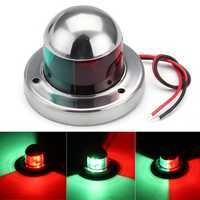 Universal 12V Stainless Steel Marine Boat Yacht LED Navigation Light Red + Green