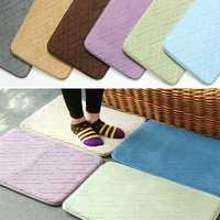 40x60cm Coral Velvet Non Slip Memory Foam Carpet Home Floor Bedroom Rug Soft Plush Door Mat
