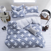 3 Or 4pcs Polyester Fiber Western Style Reactive Printing Bedding Sets Pillowcase Quilt Duvet Cover