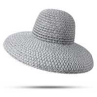 Women Retro Foldable Sunscreen Bucket Straw Hat