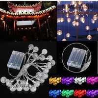 3M 20LED Battery Bubble Ball Fairy String Lights Garden Party Christmas Wedding Decor