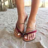 Women Folkways Flip Flops Slippers Gladiator Flat Sandals
