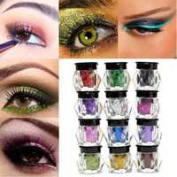 12 Colors Eye Shadow Powder Shining Bright Glitter Pigment Makeup