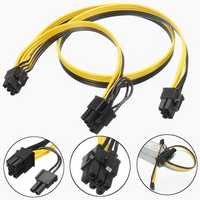 6 Pin to 6 Pin+ 8 Pin(6+2) Power Cable For Mining Machine Video Graphics Card