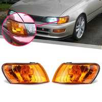 Parking Corner Light Cover Orange Lens Pair for Toyota Corolla AE100 AE101 E100 1993-1997