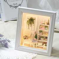 CuteRoom DIY Sunshine Zakka Room Dollhouse Kit Photo Frame Design Decor Collection Gift W-005