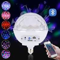 AC100-240V E27 Voice Control Music Speaker Colorful LED bluetooth Light Bulb for Stage Party