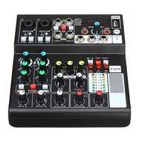 Mini 6 Channels USB Portable Audio Mixer Bluetooth Live Stage Audio Mixing Console