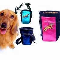 Dog Pet Training Treat Bag Feed Pouch Pockets Dog Snacks Bag Waterproof Food Treat Storage Holder
