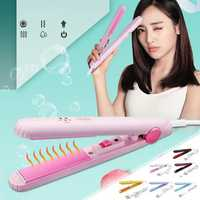 Global Voltage Portable Hair Straightener Steam Flat Iron