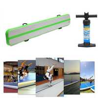 118x16x4inch Balance Beam Training Mat Airtrack Gymnastics Mat Tumbling Inflatable GYM Air Track Mat with Hand Pump