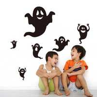 Halloween Showcase Wall Sticker Waterproof Children's Room Bedroom Backdrop Stickers DIY Stickers Removable Wallpaper Vinyl Art Decal Waterproof Decor Sticker