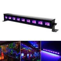 9x3W UV Purple LED Bar Light Wall Washer Lamp US Plug for DJ Party Club Home Decoration AC100-240V